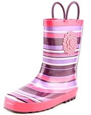 Western Chief Olivia Youth Round Toe Synthetic Purple Rain Boot.