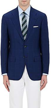 Kiton Men's Plaid Cashmere Two-Button Sportcoat