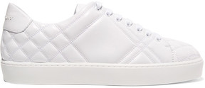 Burberry Quilted Leather Sneakers - White