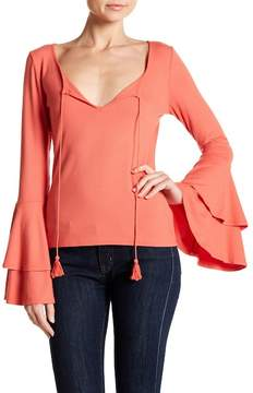 Band of Gypsies Ribbed Bell Sleeve Top