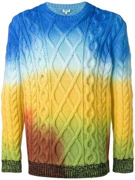 Kenzo cable knit tonal sweater