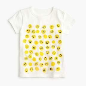 J.Crew Girls' emoji polka-dot T-shirt