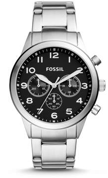 Fossil Flynn Pilot Chronograph Stainless Steel Watch