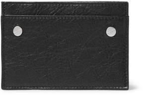 Balenciaga Arena Creased-Leather Cardholder
