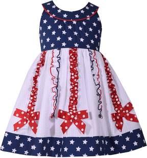 Bonnie Jean Baby Girl Star Print Bow Dress