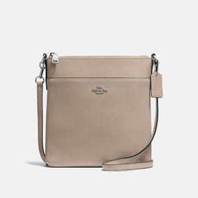 COACH Coach Messenger Crossbody In Crossgrain Leather - SILVER/STONE - STYLE