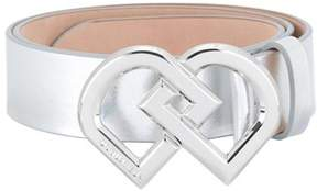 DSQUARED2 Women's Silver Leather Belt.