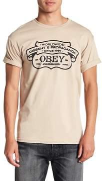 Obey Dissent Propaganda Graphic Tee