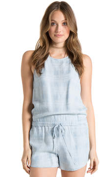 Bella Dahl Halter Romper-Shadow Plaid Wash-XS