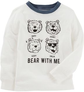 Osh Kosh Toddler Boy Expressions Bear With Me Graphic Tee