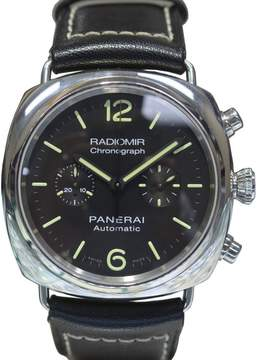Panerai Radiomir 369 Stainless Steel & Leather Automatic 42mm Mens Watch
