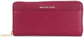 MICHAEL Michael Kors logo plaque zip wallet - RED - STYLE