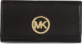 MICHAEL Michael Kors Plaque-detail leather wallet - BLACK - STYLE