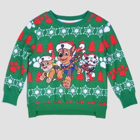 Nickelodeon Toddler Boys' PAW Patrol Ugly Christmas Sweatshirt - Green
