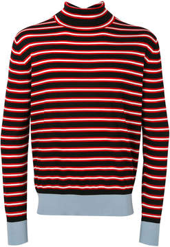Marni roll neck striped sweater