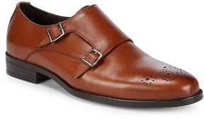 Saks Fifth Avenue Men's Double-Monk Leather Dress Shoes