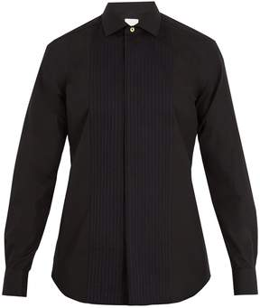 Paul Smith Double-cuff bib-front cotton shirt