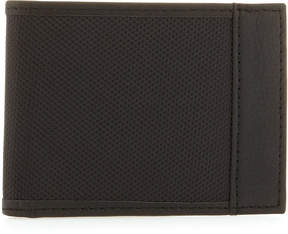 Neiman Marcus Nylon/Leather Bi-Fold Wallet, Black