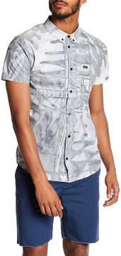 RVCA Ancell Flora Printed Slim Fit Shirt
