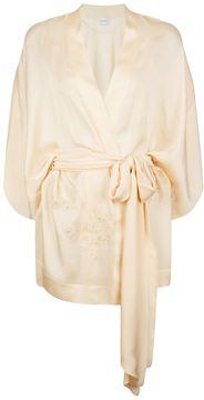 Carine Gilson Short Silk Kimono Robe