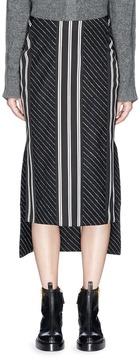 Aalto Stripe wool blend melton high-low skirt