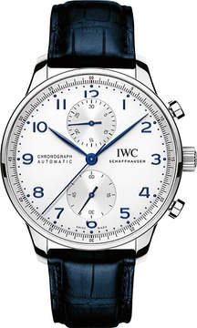 IWC IW371446 portugieser leather watch
