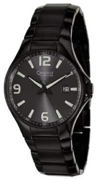 Bulova Caravelle by 45B119 Mens Black Steel Bracelet Date Watch