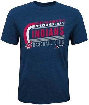 Majestic Boys 8-20 Cleveland Indians Curve Ball Tee