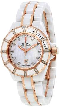 Bulova Accutron Mirador White Mother of Pearl Dial Ladies Watch