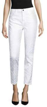 7 For All Mankind Jen7 by Floral Jacquard Ankle Skinny Jeans