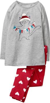 Gymboree Red 'Meowy Catmas' Hoho Pajama Set - Toddler & Boys