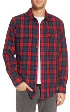 Obey Men's Norwich Plaid Woven Shirt