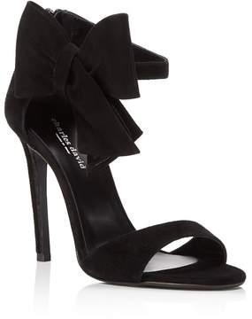 Charles David Precious Suede Bow High Heel Sandals