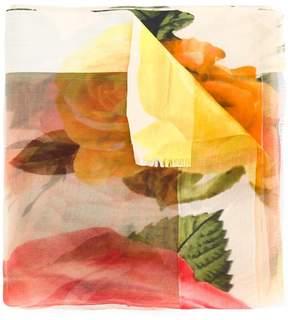 Faliero Sarti sheer floral scarf