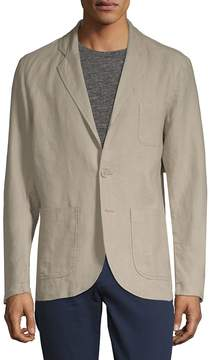 Saks Fifth Avenue BLACK Men's Two-Button Linen Blazer