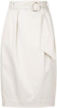 ESTNATION belted high waist skirt