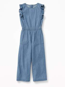 Old Navy Chambray Cinched-Waist Utility Jumpsuit for Girls