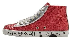 MANGO Shiny high top sneakers