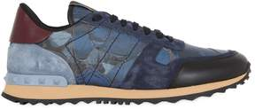 Valentino Rockrunner Butterfly & Leather Sneakers