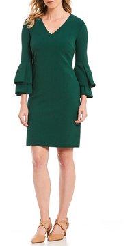 Alex Marie Theresa Ruffle Trim Dress