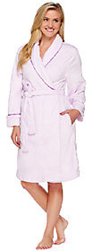 Carole Hochman Plush Mid-Length Wrap Robe