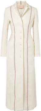 Brock Collection Carolyn Striped Linen Coat - Ivory