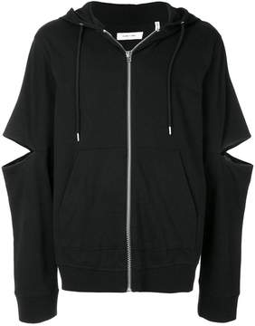 Helmut Lang cut out detail hoodie