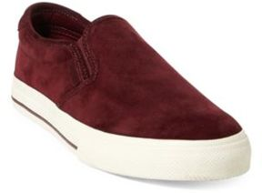 Ralph Lauren Vaughn Suede Slip-On Sneaker Port 10.5