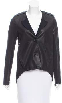 Doo.Ri Draped-Accented Leather Jacket