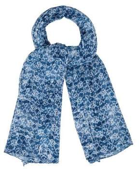Escada Pleated Printed Scarf