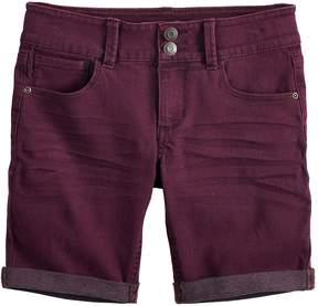 Mudd Girls 7-16 & Plus Size Rolled Cuff Denim Bermuda Shorts