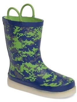 Western Chief Boy's Digital Camo Led Rain Boot