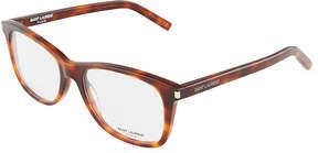 Saint Laurent Square Havana Acetate Optical Glasses