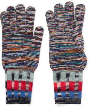 Missoni Wool-blend Gloves - Indigo